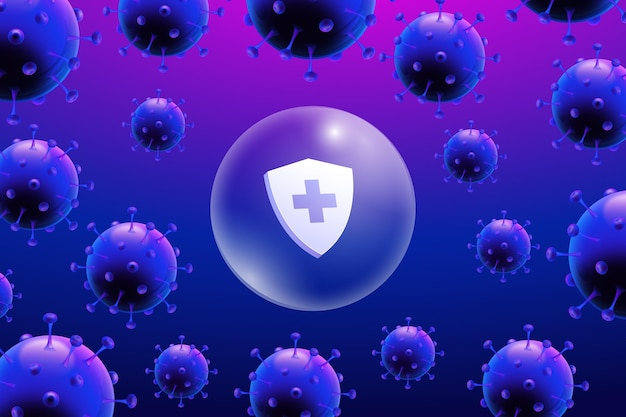 Coronavirus beschermend schild achtergrond