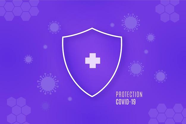 Coronavirus bescherming schild achtergrond