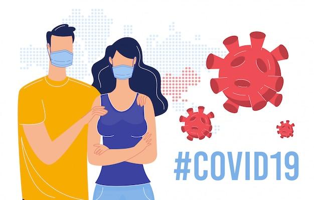 Coronavirus besmettingspreventie plat