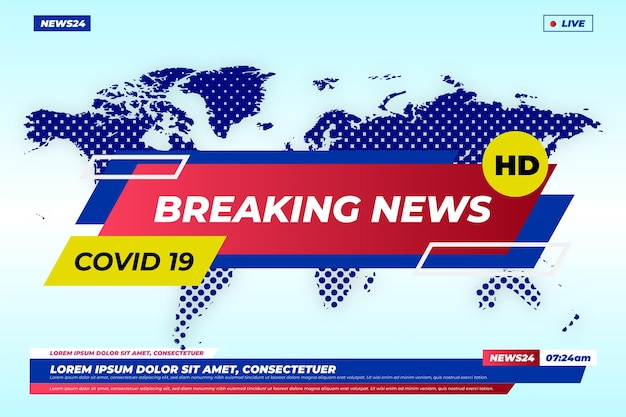 Coronavirus breaking news achtergrond