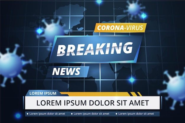 Coronavirus breaking news - achtergrond
