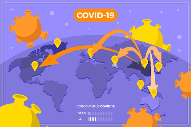 Coronavirus brengt de wereldwijde verspreiding van het virus in kaart