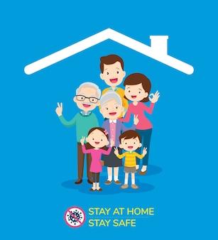Coronavirus-campagne om thuis te blijven.