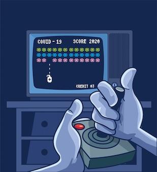 Coronavirus cartoon gaming