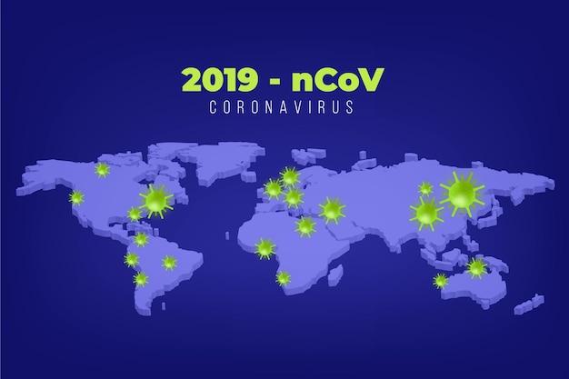 Coronavirus concept kaartontwerp
