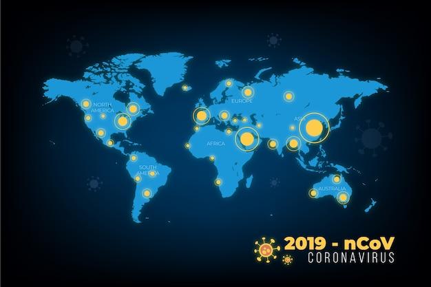 Coronavirus concept kaartstijl