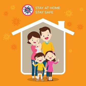 Coronavirus covid 19 campagne om thuis te blijven