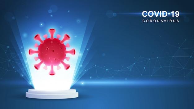 Coronavirus (covid-19. coronavirus-uitbraak en influenza-achtergrond van coronavirussen. covid19-virus. illustratie.