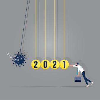 Coronavirus covid-19 impact financiële en wereldeconomie creëren domino-effect op financiële crisis