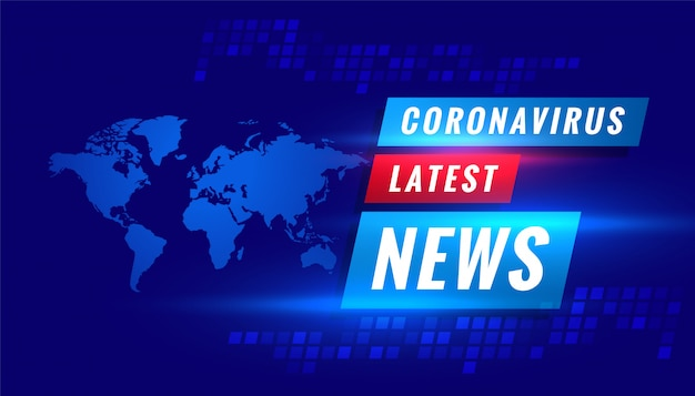 Coronavirus covid-19 laatste nieuwsuitzending concept achtergrond