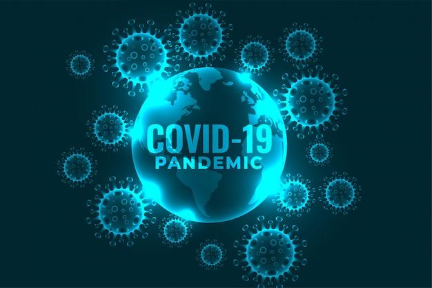 Coronavirus covid-19 pandemische infectie die achtergrondontwerp verspreidt