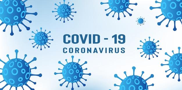 Coronavirus covid-19 pandemische ziekte-uitbraak achtergrond
