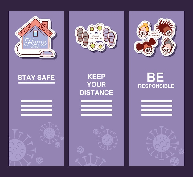 Coronavirus covid 19, preventie infographic uitbraak tips illustratie stickerpictogram