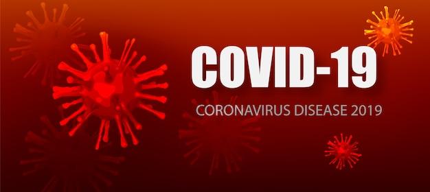 Coronavirus covid-19 uitbraak influenza-achtergrond. covid-19-virus. pandemic medische gezondheidsrisico concept