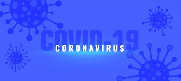 Coronavirus covid-19 uitbraak pandemische achtergrond met virussen