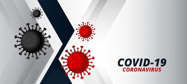 Coronavirus covid-19-virus verspreidde het ontwerp van de pandemie-banner
