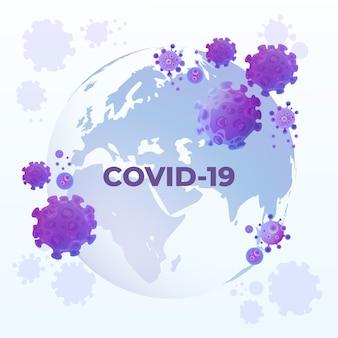 Coronavirus covid-19 wereldbol