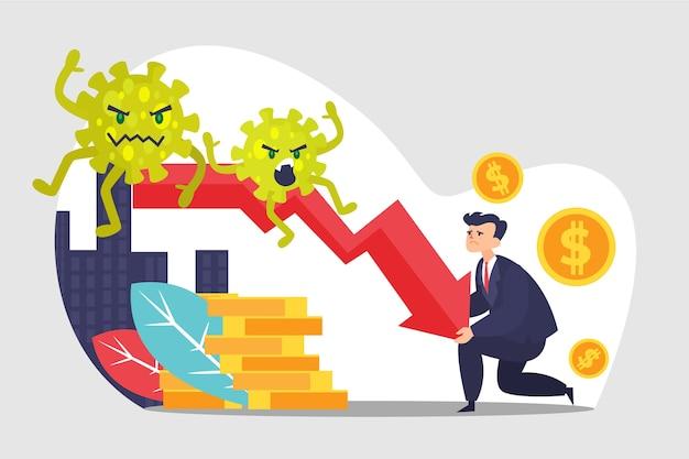 Coronavirus economie impactconcept