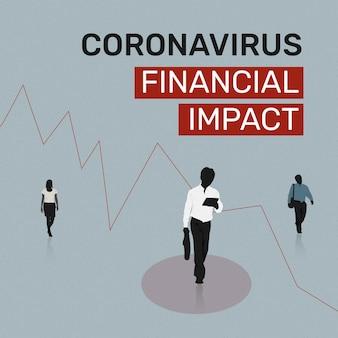 Coronavirus financiële impact vector