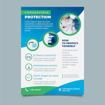 Coronavirus-flyer voor medische producten