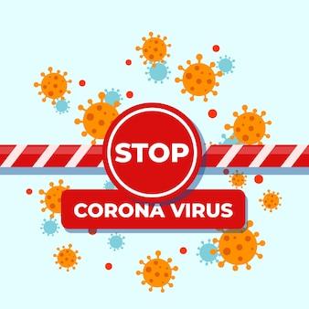 Coronavirus grens sluiting concept