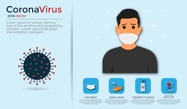 Coronavirus illustratie
