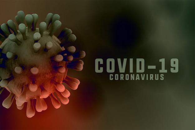 Coronavirus-infectie achtergrond met 3d-virus cel