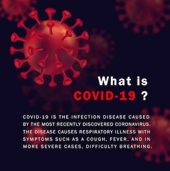 Coronavirus info achtergrondontwerp met tekst