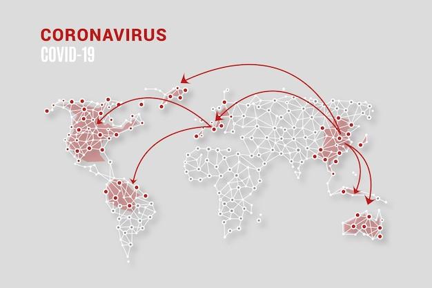 Coronavirus kaart concept