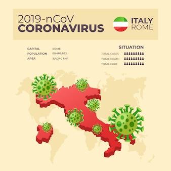 Coronavirus kaart infographic