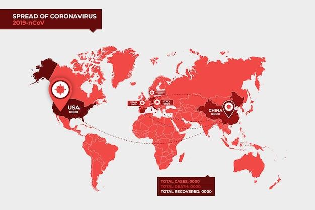 Coronavirus kaartontwerp