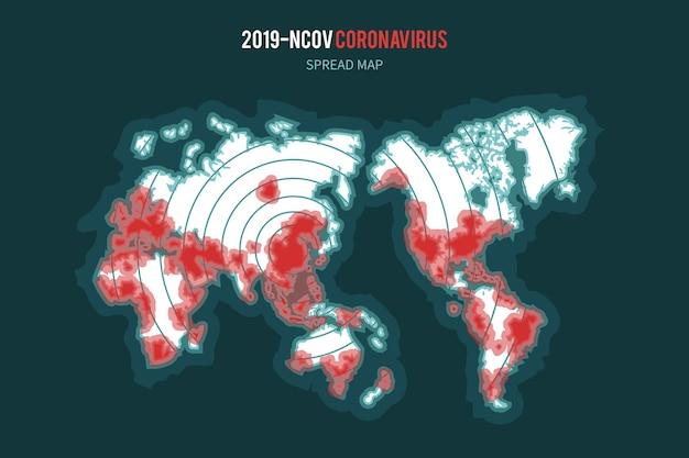 Coronavirus kaartverspreiding