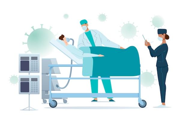 Coronavirus kritisch patiëntontwerp