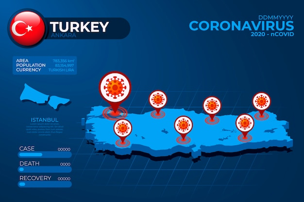 Coronavirus landkaart infographic