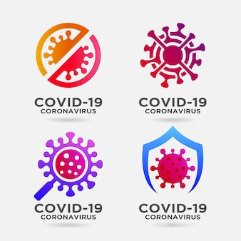Coronavirus logo ontwerp