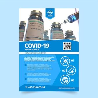 Coronavirus medische producten flyer met foto