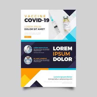 Coronavirus medische producten flyer-sjabloon met foto