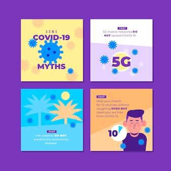 Coronavirus mythenlijst voor instagram