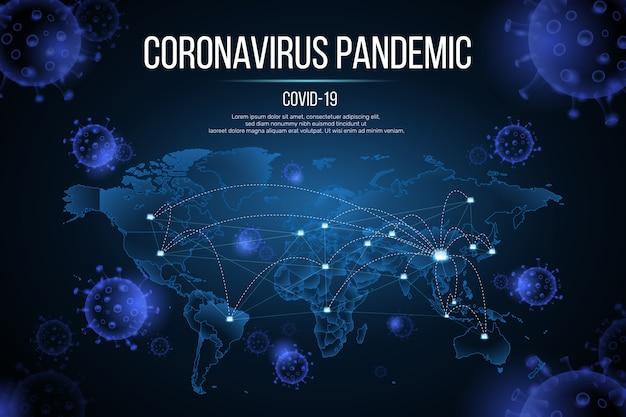 Coronavirus pandemisch concept