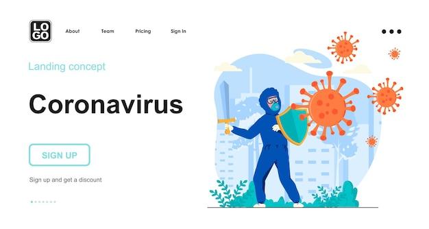 Coronavirus plat ontwerpconcept