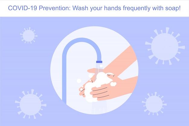 Coronavirus preventie handen wassen