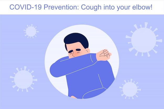 Coronavirus-preventie hoest in je elleboog