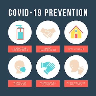 Coronavirus preventie infographic concept