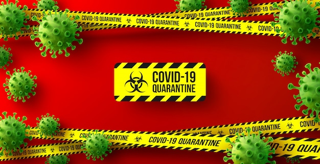 Coronavirus quarantaineachtergrond