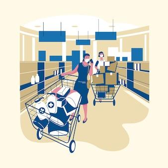 Coronavirus supermarktontwerp