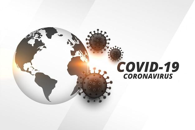 Coronavirus uitbarsting pandemie infectie achtergrond met aarde