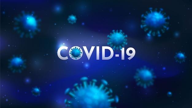 Coronavirus-uitbraak 3d render achtergrondvector, covid-19 die de luchtwegen in de mens aantast, corona-virus covid 19 virale infectie