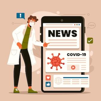 Coronavirus update concept