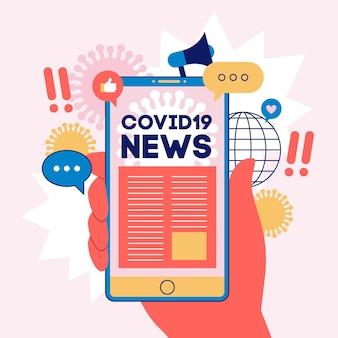 Coronavirus-updateconcept geïllustreerd