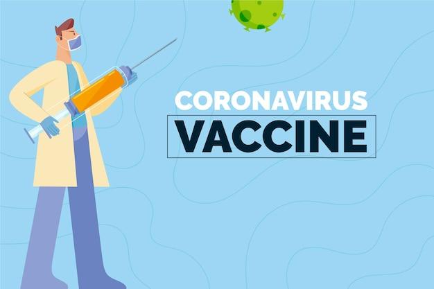 Coronavirus vaccin concept illustratie